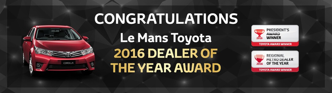 2016 Dealer of the Year Award